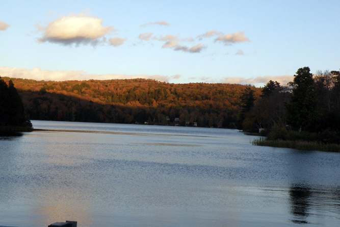 Silver Lake In The Autumn