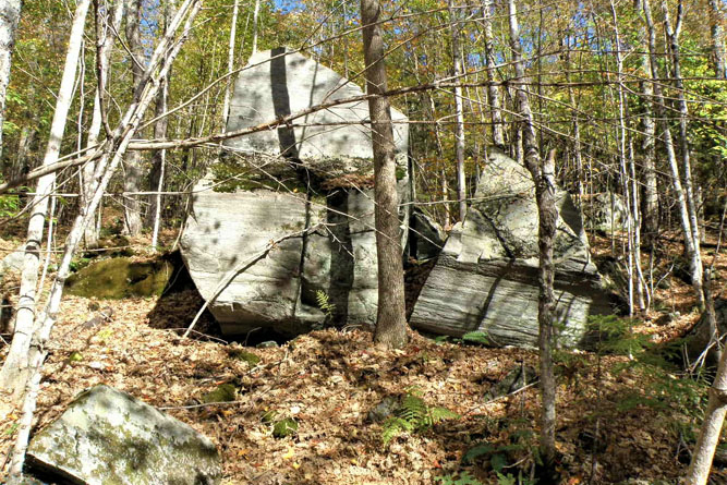 Glacial Erratics On Lower Slopes