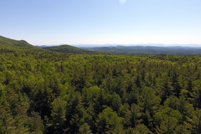 Looking East Across The Foothills Of The Adirondacks Toward The Lake Champlain Valley