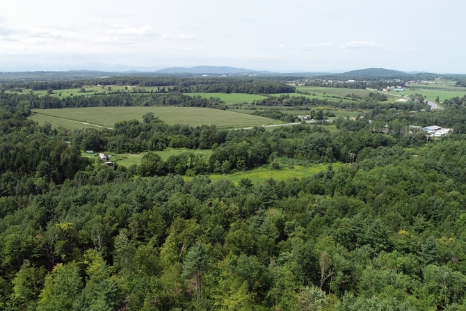 Looking West To Champlain Valley