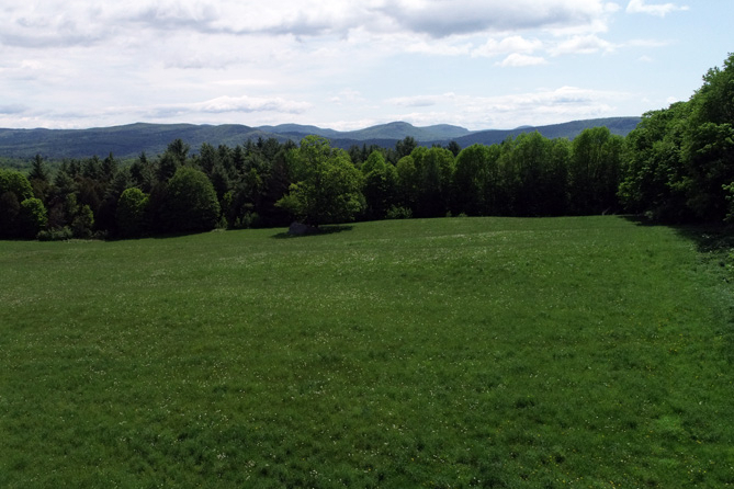 View To The East Of The Groton Mountains From The Meadow