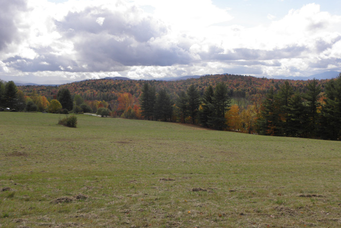 View Of Sugarbush Ski Resort From The Field