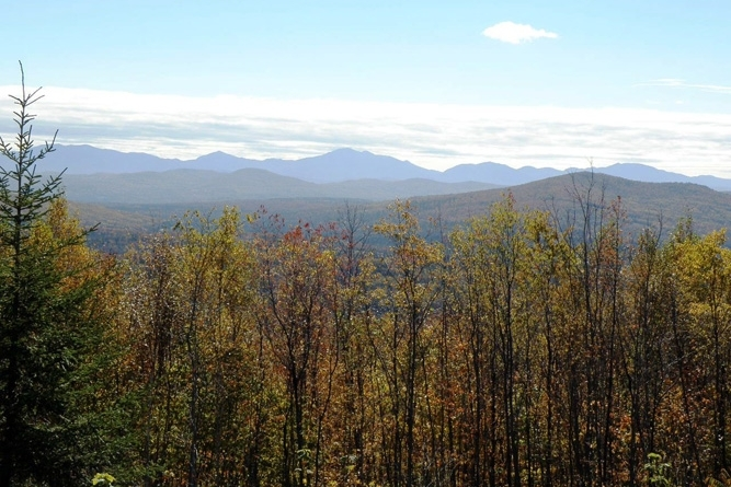 View Of Presidential Range From Upper Road