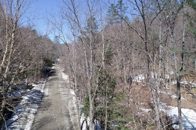 Ward Brook Road With Property On Right